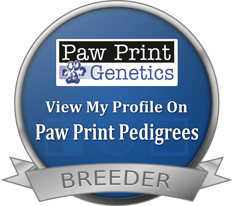 Paw Print Pedigrees Breeder Seal
